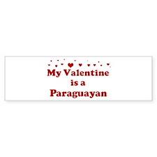 Paraguayan Valentine Bumper Bumper Sticker