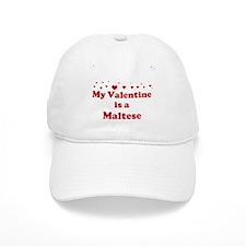 Maltese Valentine Baseball Cap