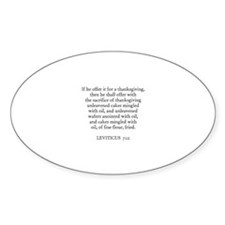 LEVITICUS 7:12 Oval Decal