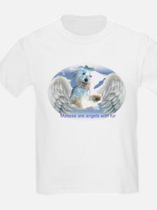 Maltese Dogs Kids T-Shirt