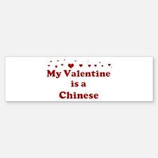 Chinese Valentine Bumper Bumper Bumper Sticker