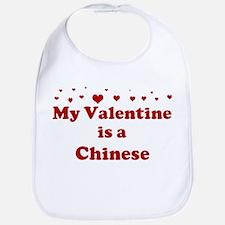 Chinese Valentine Bib
