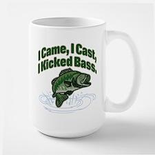 CAME, CAST, KICKED BASS Large Mug