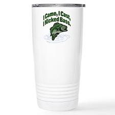 CAME, CAST, KICKED BASS Travel Mug