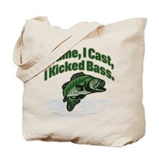 CAME, CAST, KICKED BASS Tote Bag