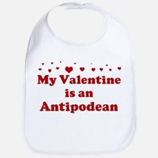 Antipodean Valentine Bib