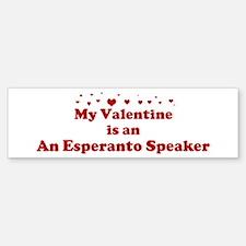 An Esperanto Speaker Valentin Bumper Bumper Bumper Sticker
