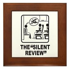 Silent Review Framed Tile