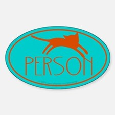 Cat person. Oval Decal