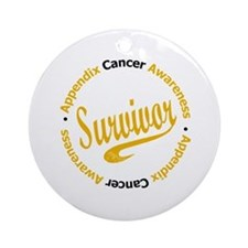Appendix Cancer Survivor Ornament (Round)