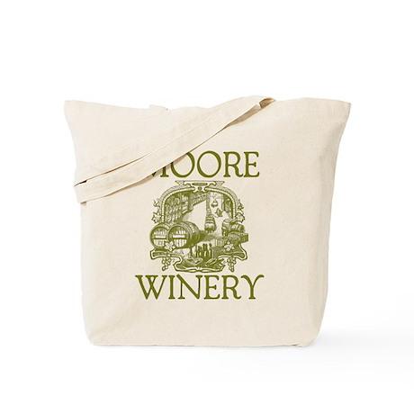 Moore Last Name Vintage Winery Tote Bag