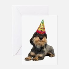 Wirehaired Dachshund Birthday Card