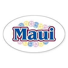 Hawaii - flowers Oval Decal