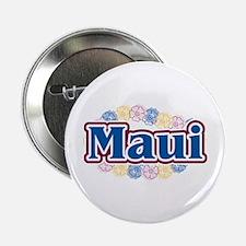 """Hawaii - flowers 2.25"""" Button"""