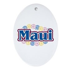 Hawaii - flowers Oval Ornament