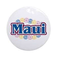 Hawaii - flowers Ornament (Round)