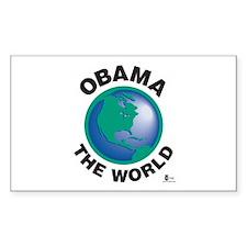 Obama The World Rectangle Sticker 50 pk)