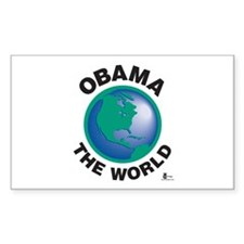 Obama The World Rectangle Sticker 10 pk)