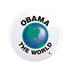 "Obama The World 3.5"" Button (100 pack)"