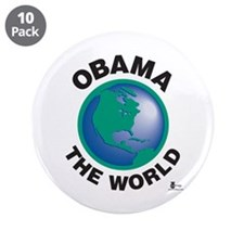 "Obama The World 3.5"" Button (10 pack)"