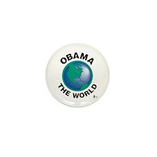 Obama The World Mini Button (100 pack)