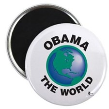 "Obama The World 2.25"" Magnet (10 pack)"