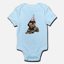 Wirehaired Dachshund Party Infant Bodysuit