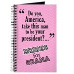 Brides for Obama Wedding Party Planner Journal