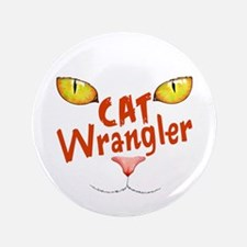 "Cat Wrangler 3.5"" Button"