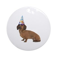 Dachshund Party Ornament (Round)