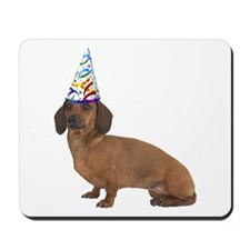 Dachshund Party Mousepad