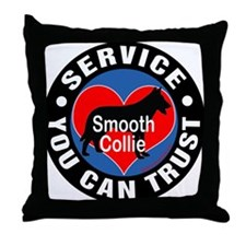 A Smooth Collie's Heart Throw Pillow