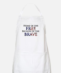 Home of the Free Because of t BBQ Apron