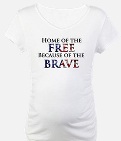 Home of the Free Because of t Shirt