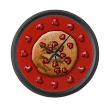 Love Chip Cookie Large Wall Clock