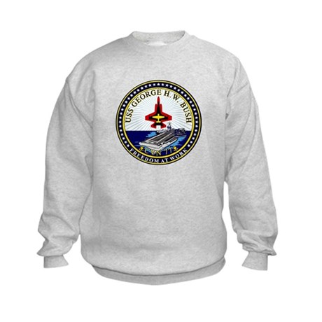 USS George HW Bush CVN-77 Kids Sweatshirt