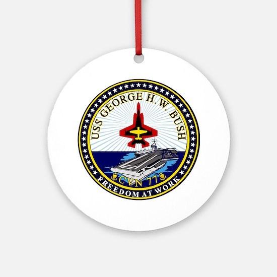 Uss George Hw Bush Cvn-77 Ornament (round)