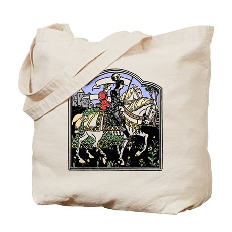 Knight and Maiden Tote Bag
