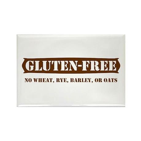 GLUTEN-FREE no wheat rye barl Rectangle Magnet
