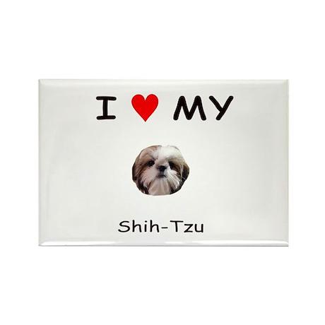 I Heart My Shih Tzu Rectangle Magnet