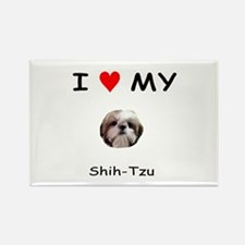 I Heart My Shih Tzu Rectangle Magnet