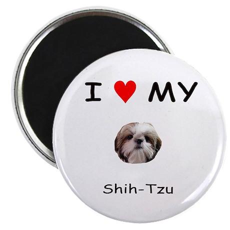 """I Heart My Shih Tzu 2.25"""" Magnet (10 pack)"""