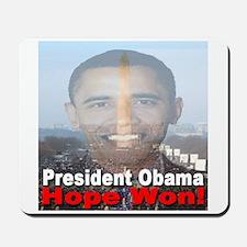 President Obama/Hope Won Mousepad