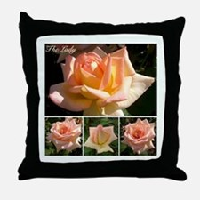 """English Rose """"The Lady"""" Throw Pillow"""