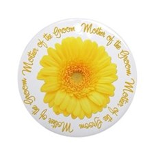 Daisy Mother of the Groom Ornament (Round)