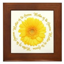 Daisy Mother of the Groom Framed Tile