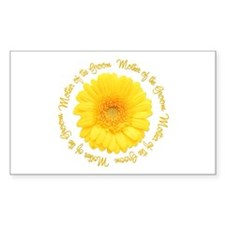Daisy Mother of the Groom Rectangle Decal