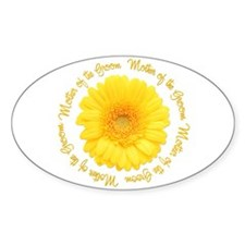Daisy Mother of the Groom Oval Decal