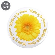 """Daisy Mother of the Groom 3.5"""" Button (10 pack)"""