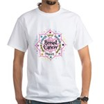 Breast Cancer Lotus White T-Shirt